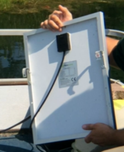 solar panel back