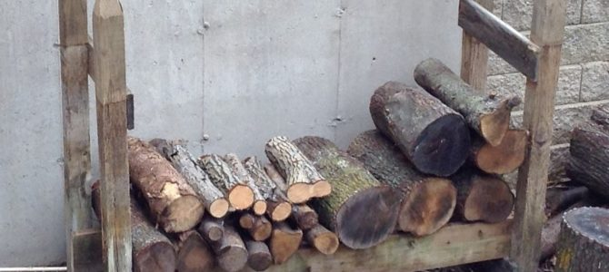 Low or No Cost Firewood Log Racks